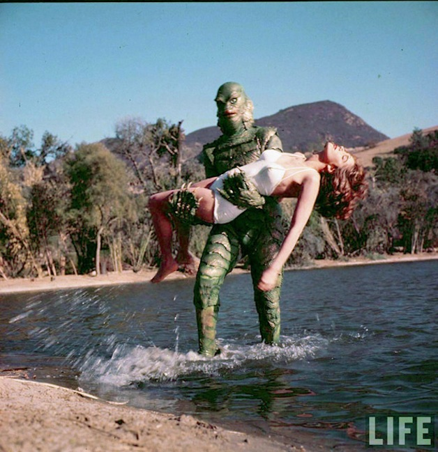 Unbelievably cool unused life magazine photos from the for Creature from the black lagoon coloring pages