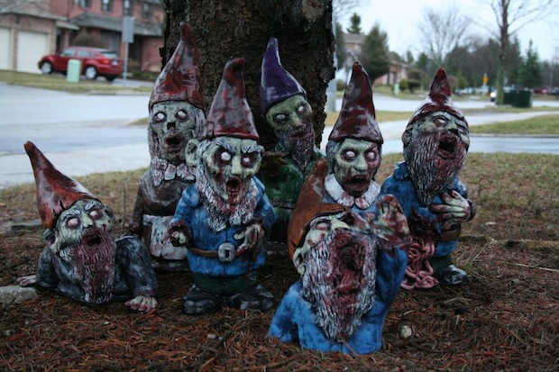 Terrifying undead lawn gnomes are coming to get you Barbara!
